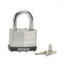 """Master Lock Fortress 1805D Laminated Steel Keyed Padlock with 5//16/"""" Shackle"""