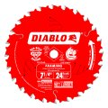 Diablo 7-1/4-inch 24 Tooth Atb Framing Saw Blade With 5/8-inch And Diamond Knockout Arbor