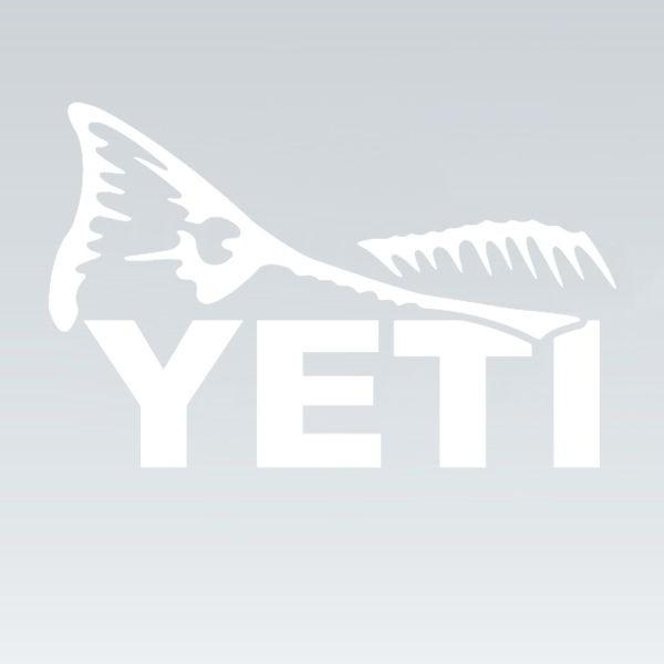 Wylaco supply yeti sportsman 39 s decal for Fishing yeti decal